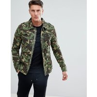 Superdry Camo Jacket With Multi Pocket - Green