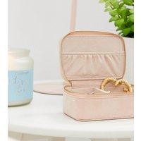Accessorize Exclusive Dusky Pink Suedette Jewellery Box