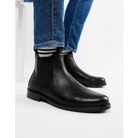 Polo Ralph Lauren normanton leather chelsea boots in black - Black