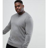 Jacamo Plus knitted jumper in grey - Grey