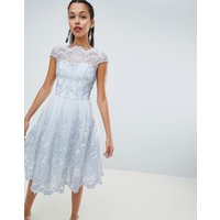 Chi Chi London premium lace midi dress with cap sleeve
