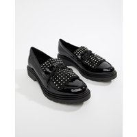 Aldo Nydiradda Leather Stud Chunky Loafers - Black Patent Leather