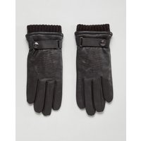 Dents Henley leather touchscreen gloves - Brown