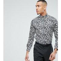 Noak TALL Skinny Printed Shirt - White/black