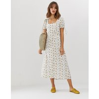 Vero Moda square neck ditsy floral maxi tea dress - Pristine aop