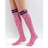 Calcetines para botas altos por la rodilla en rosa de Hunter Original