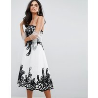 Forever UniqueForever Unique Border Strapless Dress - White