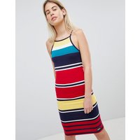 Superdry Stripe Bodycon Midi Dress - Pacific red stripe