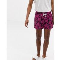 Calvin Klein Abstract Print Swim Shorts - Abstract Print