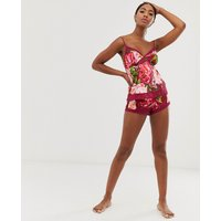 B By Ted Baker Serenity Satin Pyjama Short In Pink