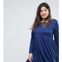 Brave Soul PlusBrave Soul Plus Jersey Skater Dress - Midnight blue