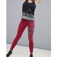 Mallas de entrenamiento burdeos de Adidas