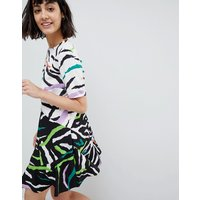 ASOSASOS Drop Waist Mini Dress in Animal Mix Print - Multi