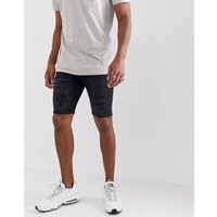 River Island skinny shorts in washed black - Black