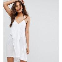 ASOS TallASOS TALL Layered Drape Jersey Beach Dress - White