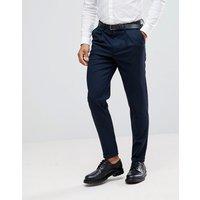 Pantalones tapered de vestir con textura de Selected Homme