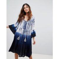 Vestido estilo túnica con teñido anudado a ondas Holiday de French Connection