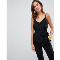 French Connection Dalma Tie Waist Cami Top - Black