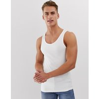 River Island muscle fit vest in white - White