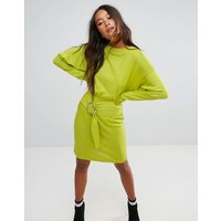ASOSASOS Knitted Dress With Batwing And Ring Detail - Yellow