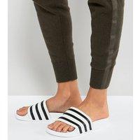 Sandalias sin cierres en blanco Adilette de adidas Originals
