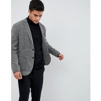 Selected Homme Patch Pocket Blazer With Raw Edge Details In Slim Fit - Black