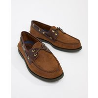 Sperry Topsider Leather Boat Shoes In Brown - Brown