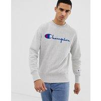 Champion Sweatshirt With Large Logo In Grey - Grey