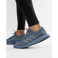 Adidas Running Pureboost Trainers In Grey Cm8303 - Grey