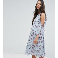 ASOS MaternityASOS Maternity Floral Ruffle Cold Shoulder Dress - Blue base