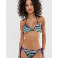 Superdry crochet bikini top - Multi stripe