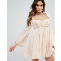 Free PeopleFree People Duchess Scallop Hem Party Dress - Pink fog