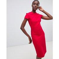 Finery Miller twist pencil dress - Cherry red