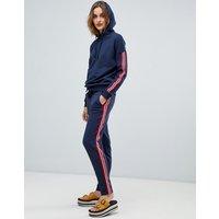Esprit Side Stripe Joggers - Navy