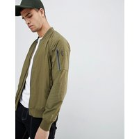 Penfield Okenfield Nylon Bomber Jacket in Green - Olive