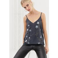 Oasis Cami Top With Star Embellishment In Grey - Multi
