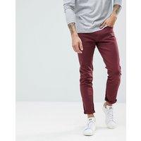 LDN DNM Skinny Jeans in Burgundy - Red