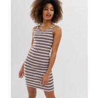 Only jersey mini dress in stripe rib - Multi