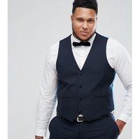 Harry Brown PLUS Plain Black Slim Fit Tuxedo Waistcoat - Navy