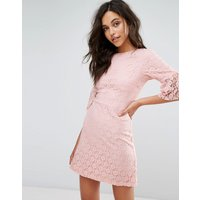 Miss SelfridgeMiss Selfridge Lace Mini Shift Dress - Pink