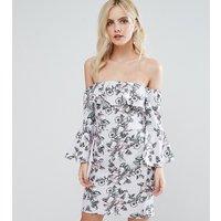 Miss Selfridge PetiteMiss Selfridge Petite Floral Bardot Dress - Lilac