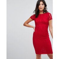 AX Paris Crochet Lace Midi Dress - Red