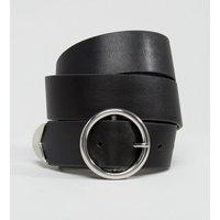Cinturón para vaqueros con hebilla redonda y punta en el extremo de ASOS DESIGN