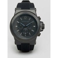 Michael Kors MK8152 Oversized Dylan Silicone Chronograph Watch - Black