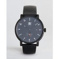 Adidas Z12 District Leather Watch In Black - Black