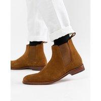 Grenson Declan chelsea boots in tan suede - Tan