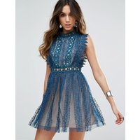 Free PeopleFree People Forever Lace Evening Dress - Sapphire