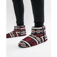 Dunlop Fairisle Boot Slipper - Multi