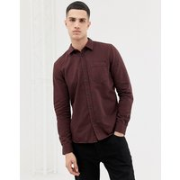Nudie Jeans Co Henry button down shirt in plum - Plum