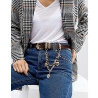 Cinturón con detalle de cadena de ASOS Jeans